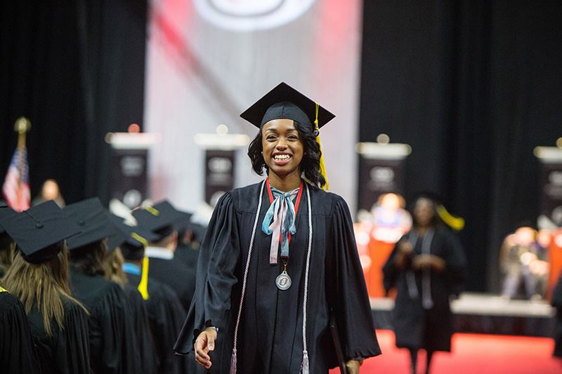 uno student at commencement