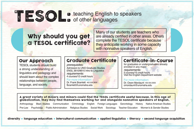 TESOL Certificate breaks down language barriers | College of Arts ...
