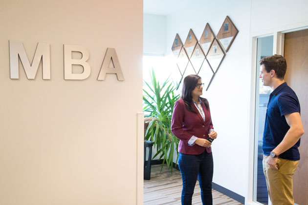 MBA area in Mammel Hall