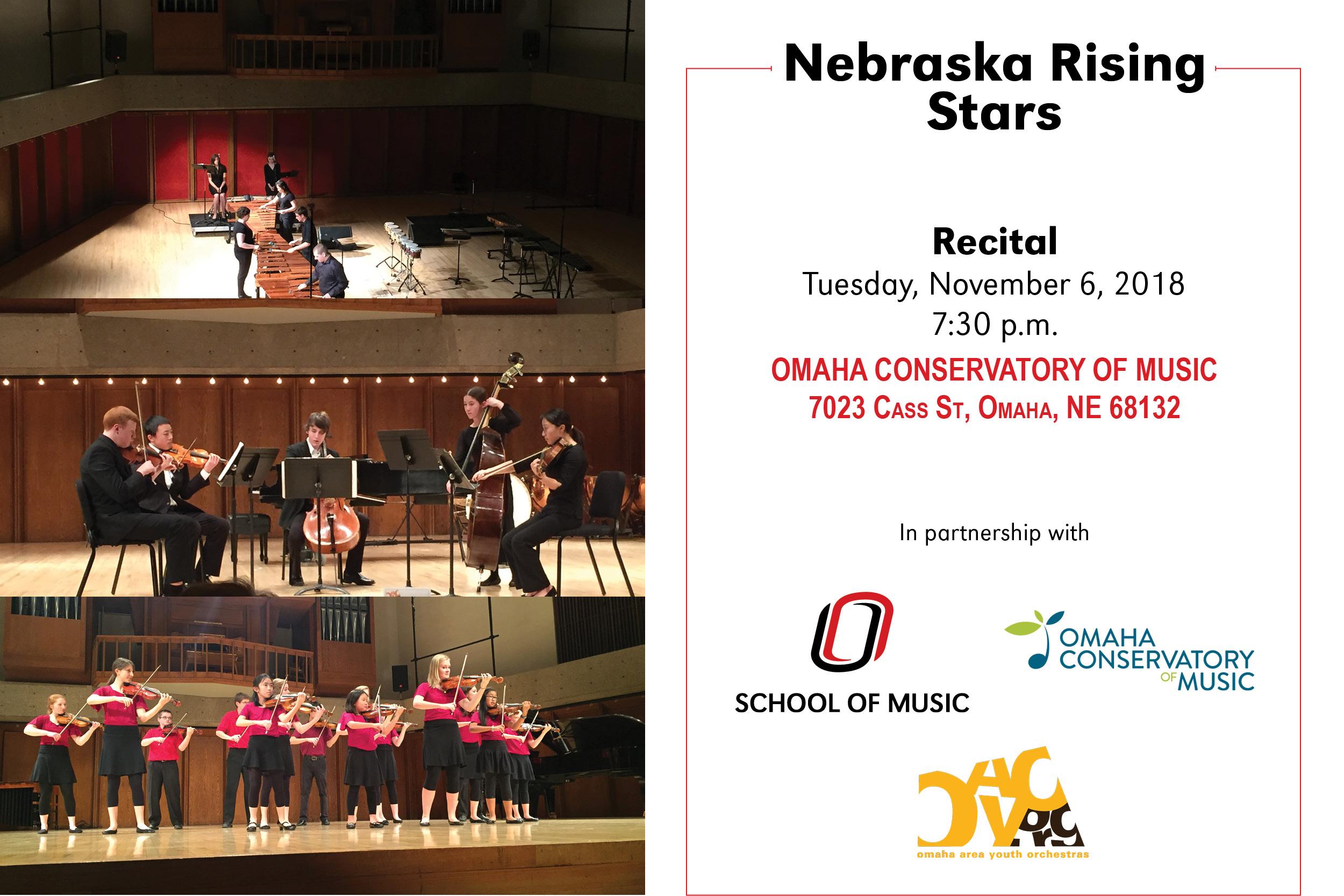 Nebraska Rising Stars School Of Music University Of Nebraska Omaha