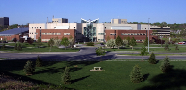The Peter Kiewit Institute from far away.