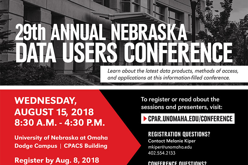 2018 Data User Conference Flier