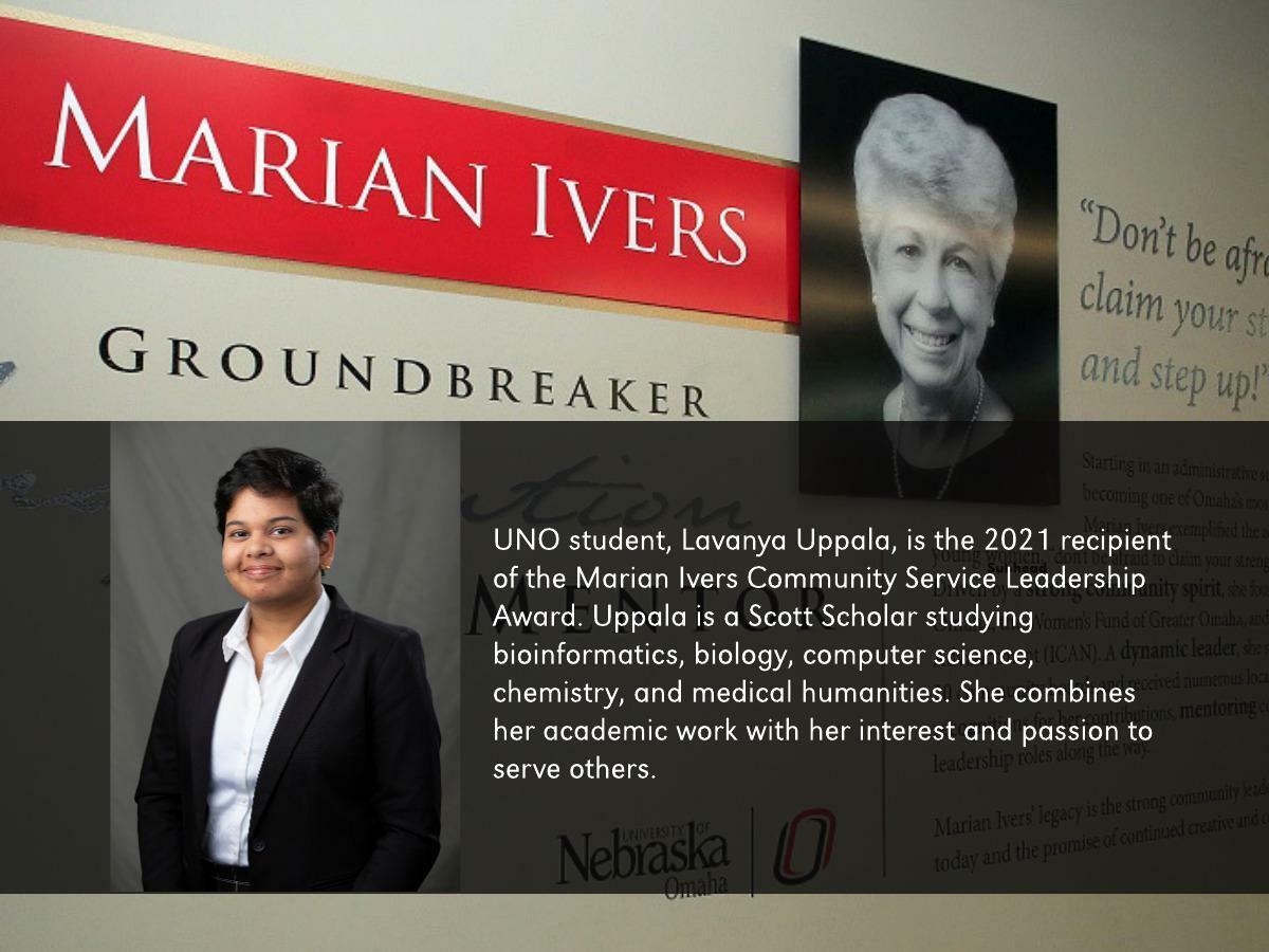 Lavanya Uppala, UNO Student and Scott Scholar