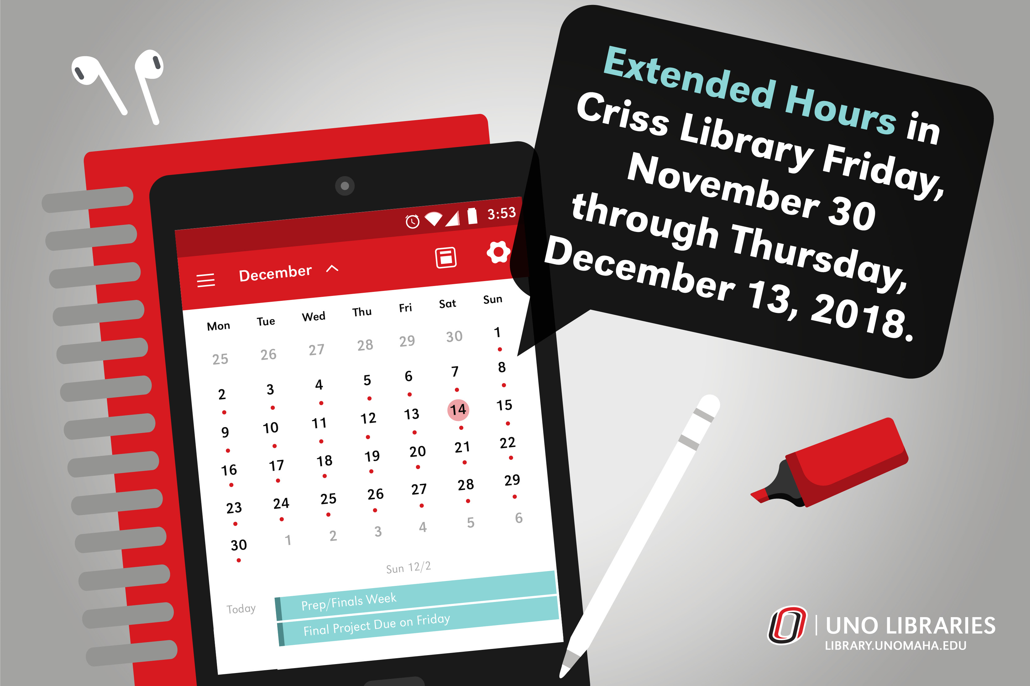 Criss Library Extended Hours