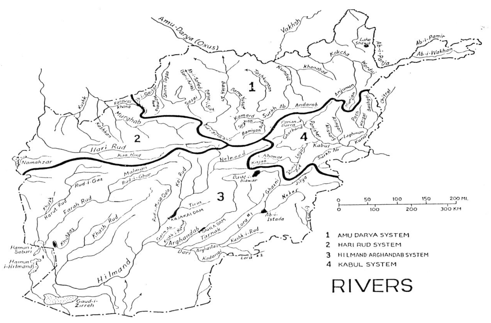 Center For Afghanistan Studies University Of Nebraska Omaha - Nebraska rivers map
