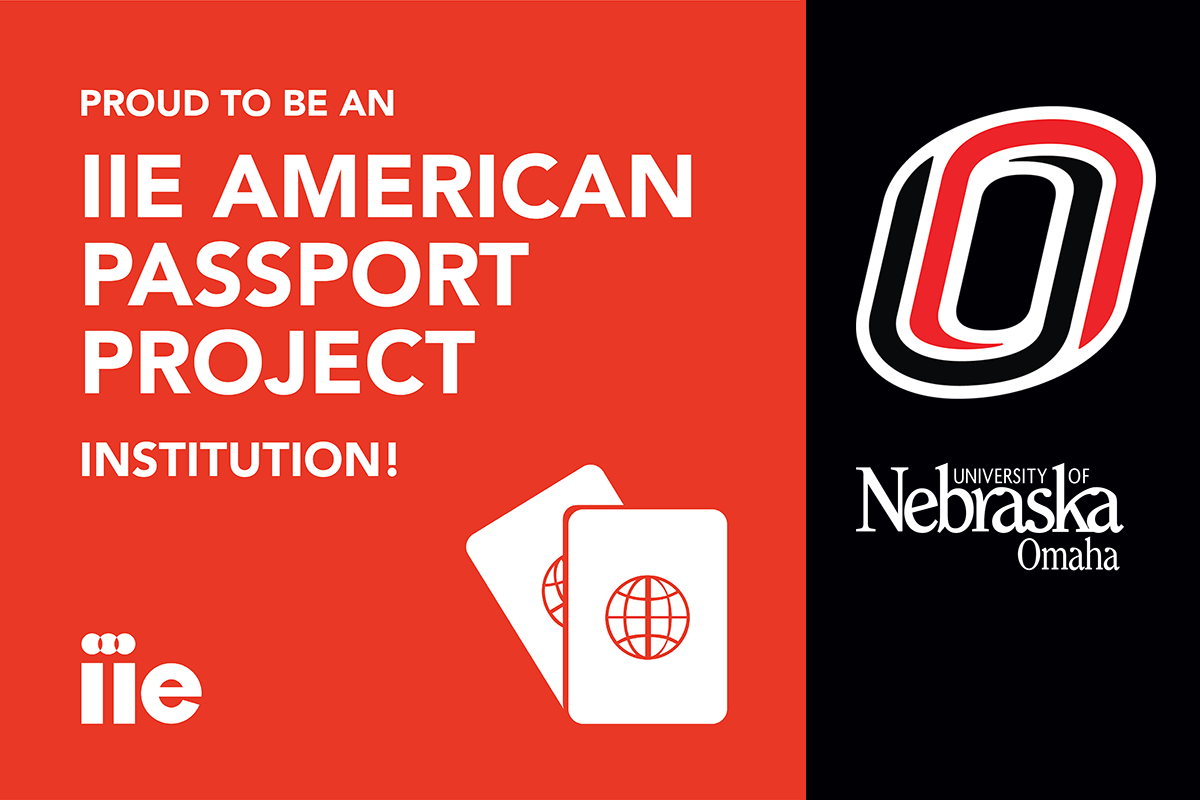 red box with white text that reads: proud to be an IIE American Passport Project Institution!