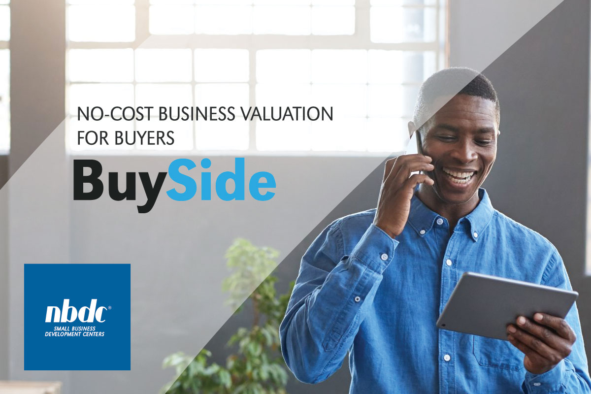 BuySide Valuation featured image: Black male on cell phone looking at tablet