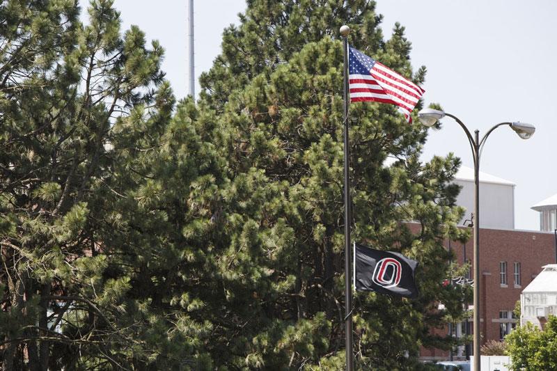 UNO Flag Lowering for Everts Sibbernsen | News | University