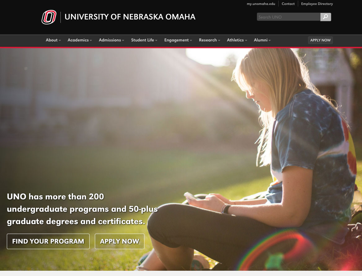 New Homepage Focuses on Prospective Students and What They
