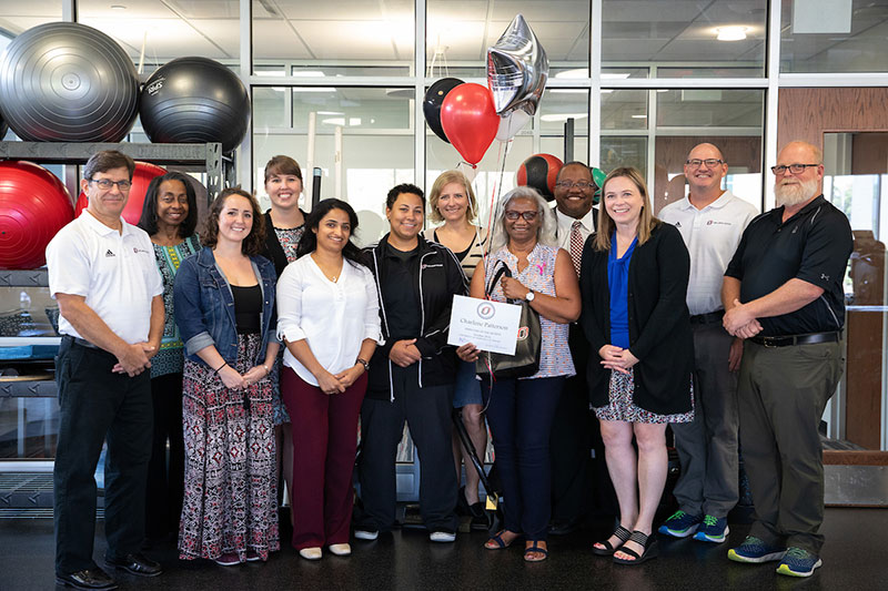 uno names charlene patterson employee of the month news