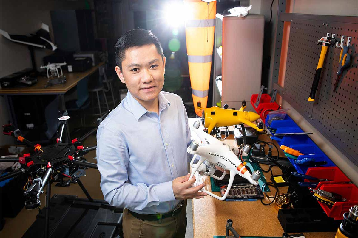 UNO Drone Expert Huang Lends Expertise to Drone Mystery Coverage