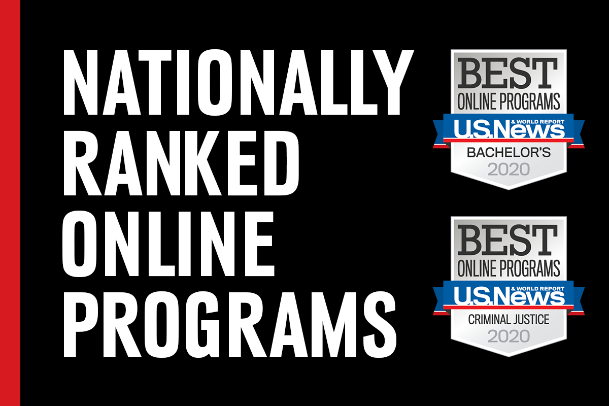 U.S. News & World Report listed UNO's online bachelor's degree and master's in criminology and criminal justice degree programs in its 2020 rankings.