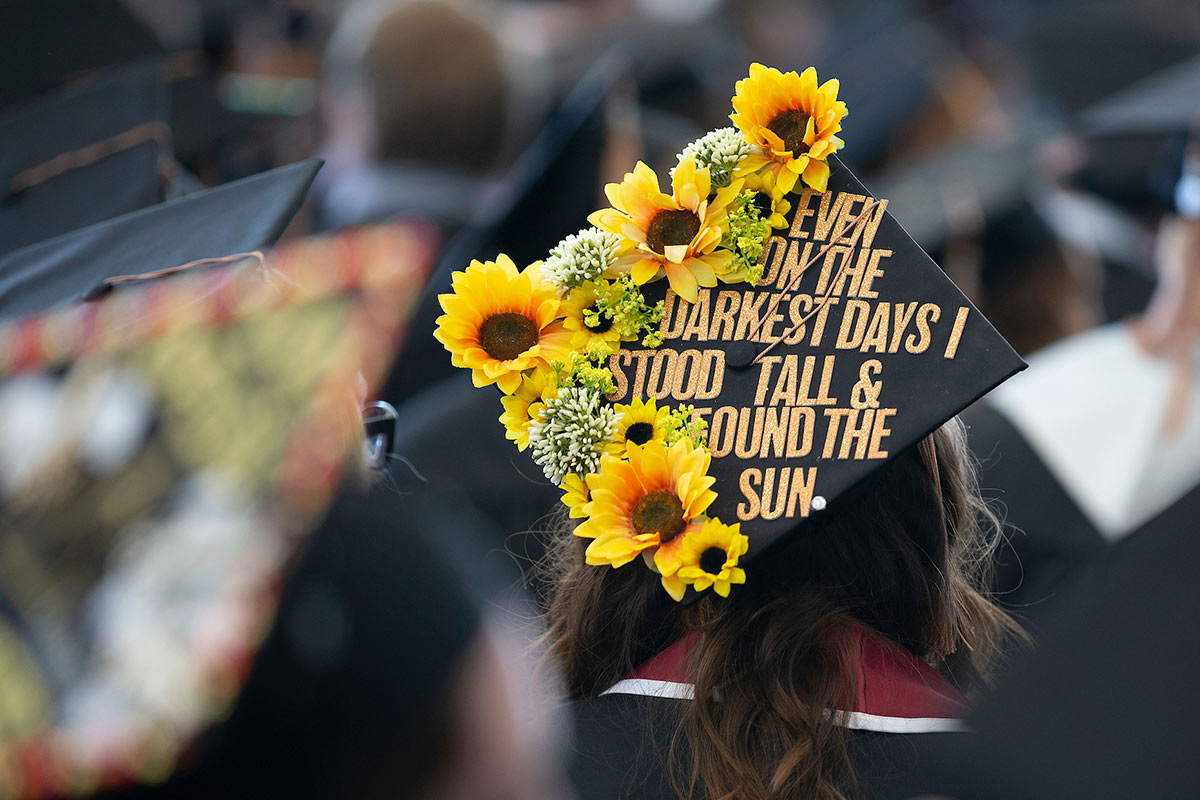 student at commencement 2019