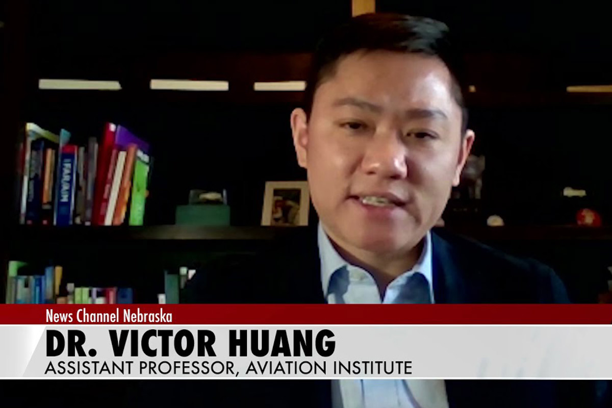 A screen shot of Huang on Access the Experts