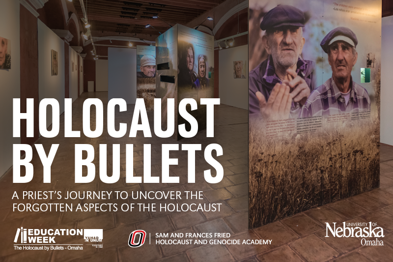 A promotional image for the Holocaust by Bullets events.
