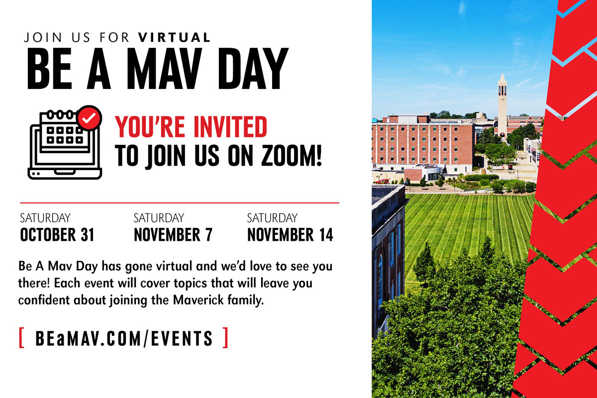 Be A Mav Day: Three-Part Virtual Event