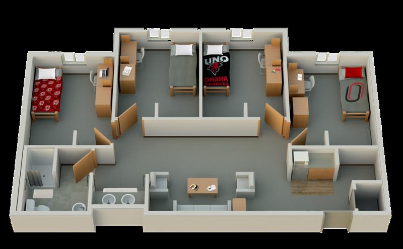 Floor Plans | Student Life | University of Nebraska Omaha